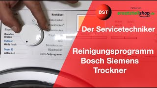 Reinigungsprogramm Wärmepumpentrockner Bosch, Siemens