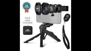 Camera Lens Kit by Coral Entertainments Professional CPL Macro & Wide Angle Lenses Multi-use tripod