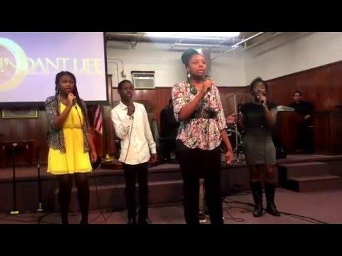 ALHFC Youth Choir singing