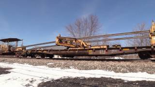 Laying New Rail in East Rochester, NY