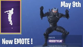 NEW FORTNITE DANCE *FREESTYLIN'* FREE WITH TWITCH PRIME MAY 9th