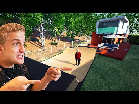 My Back Yard Skate Park is in a VIDEO GAME! (EXACT REPLICA)   Session
