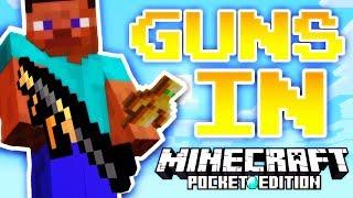 FIGHTING ZOMBIES WITH GUNS! // Minecraft PE (DayZ Addon)