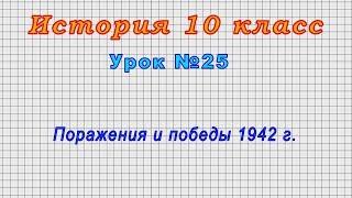История 10 класс (Урок№25 - Поражения и победы 1942 г.)