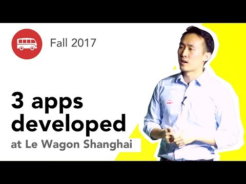 3 apps developed at Le Wagon Shanghai - Batch #112