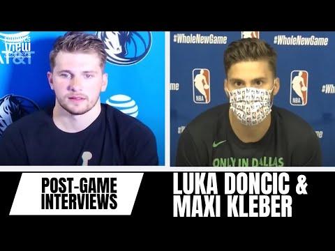 Luka Doncic & Maxi Kleber React to Luka's Surreal Between-The-Legs Pass & Big Win vs. Milwaukee