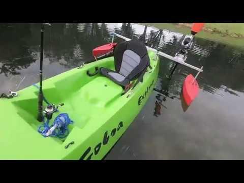11 Ft.Cobra Explorer With A 58V ECHO Powerhead On A Kayakbuddy Engine Leg