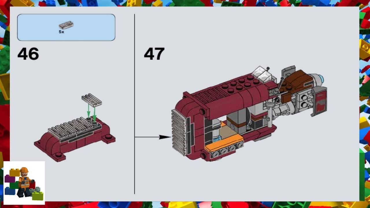 Lego Instructions Star Wars 75099 Reys Speeder Youtube