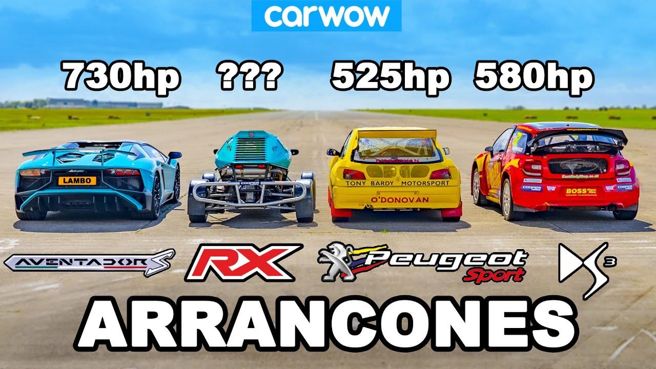 Lamborghini Aventador SV vs Autos Rallycross de £1M : ARRANCONES
