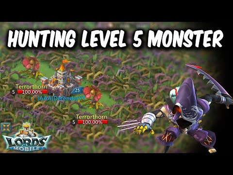 Level 5 Terrorthorn Hunt In Gift Level 60 Guild - Lords Mobile
