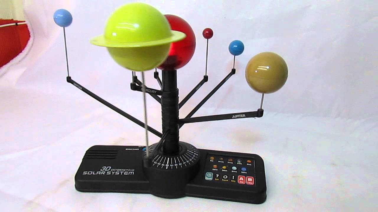 3d solar system interactive revolving educational - YouTube