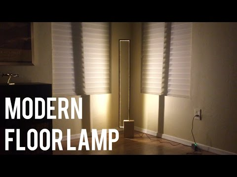Modern Floor Lamp - DIY