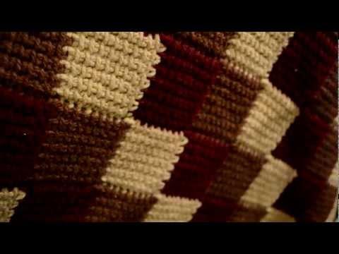 Entrelac Crochet Blanket Tunesisch Häkeln Tunesisch Und