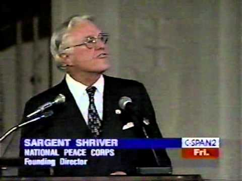 PEACE CORPS  Sargent Shriver At 35th Anniversary Dinner