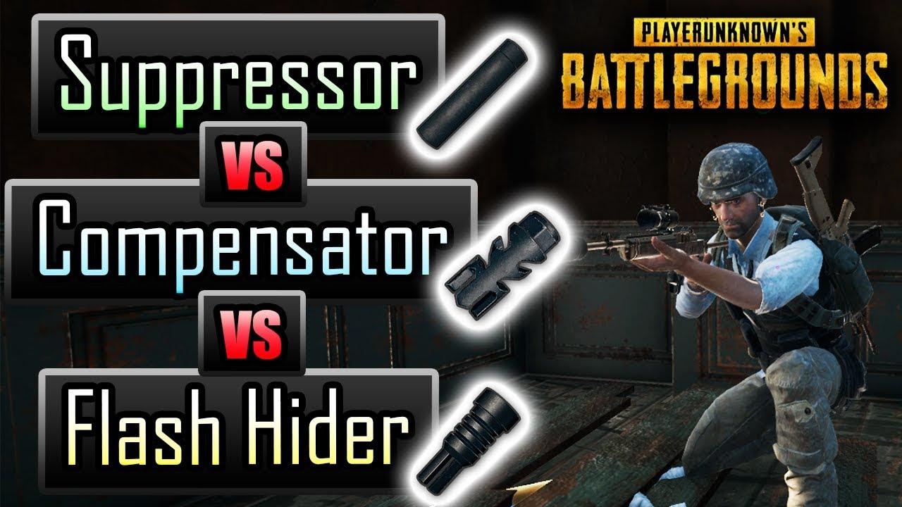 Pubg Suppressor Vs Compensator Vs Flash Hider Exact Stats