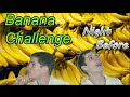 Banana Challenge For 30 Days For $1000! Night Before