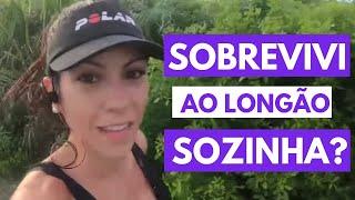 24km Desta vez sozinha Treino de corrida para Maratona