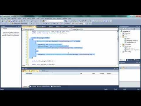 C# ASP.net Shopping Cart with Database Part 4 Travel Video