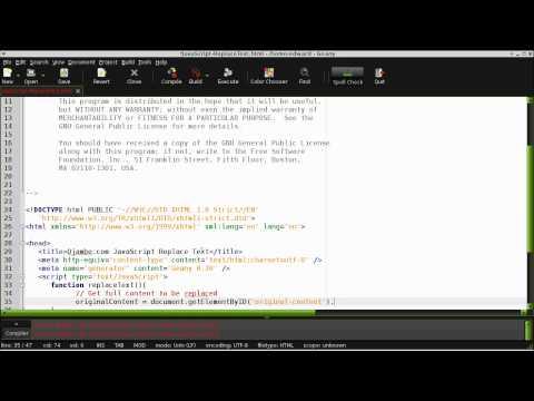 Ojambo - JavaScript Replace Text (vs 0034)