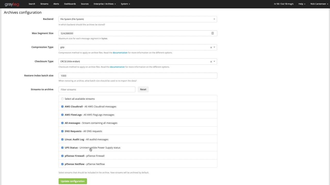 Graylog 3 0 - Archives