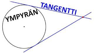 Ympyrän tangentti
