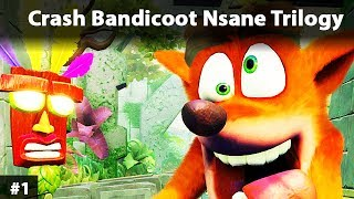 Crash Bandicoot Nsane Trilogy Gameplay Game and Walkthrough 1 gra pl po polsku