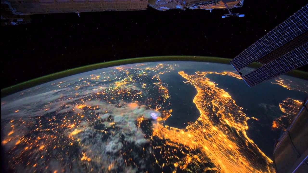 All alone in the night time lapse footage of the earth as seen all alone in the night time lapse footage of the earth as seen from the iss youtube gumiabroncs Image collections