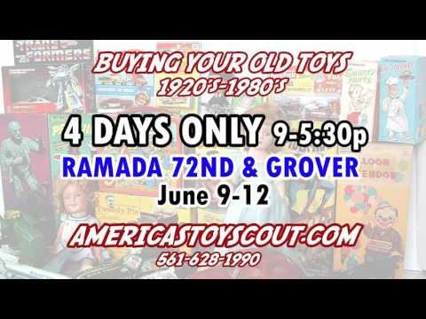 Vintage Toy Buying Show June 9-12, Ramada 72nd & Grover, Omaha Ne.