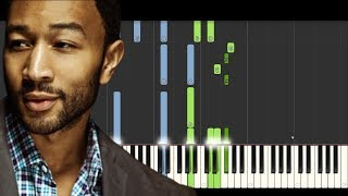 Bridge Over Troubled Water - John Legend NSJ 2013 (Piano Tutorial) [Synthesia]