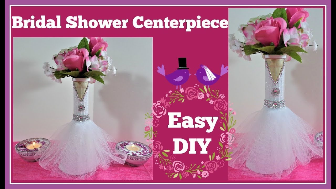 bridal showerwedding centerpiece diy project