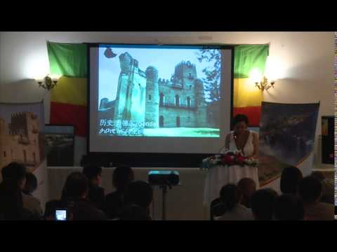 Lina Ayenew's Presentation in Chinese at the  Ethiopian Embassy in Beijing (April 2015)