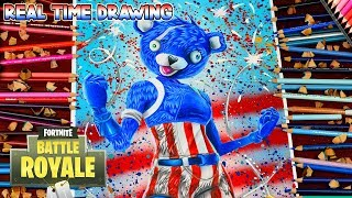 How To Draw Fortnite Battle Royale Fireworks Team Leader Step By Step Tutorial - cuddle team leader