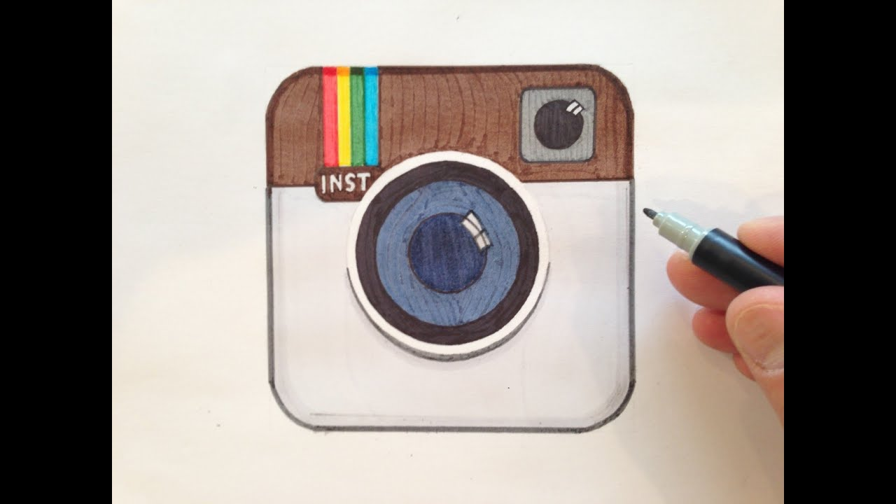 Scribble Drawing Instagram : How to draw the instagram logo youtube