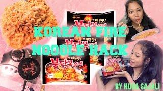 KOREAN FIRE NOODLE HACK | Huda Sajali