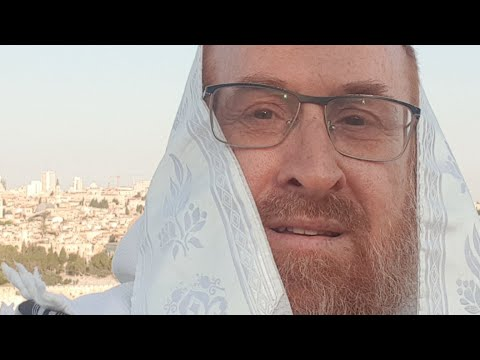 Blowing Shofar From Mount Of Olives For The End Of Covid