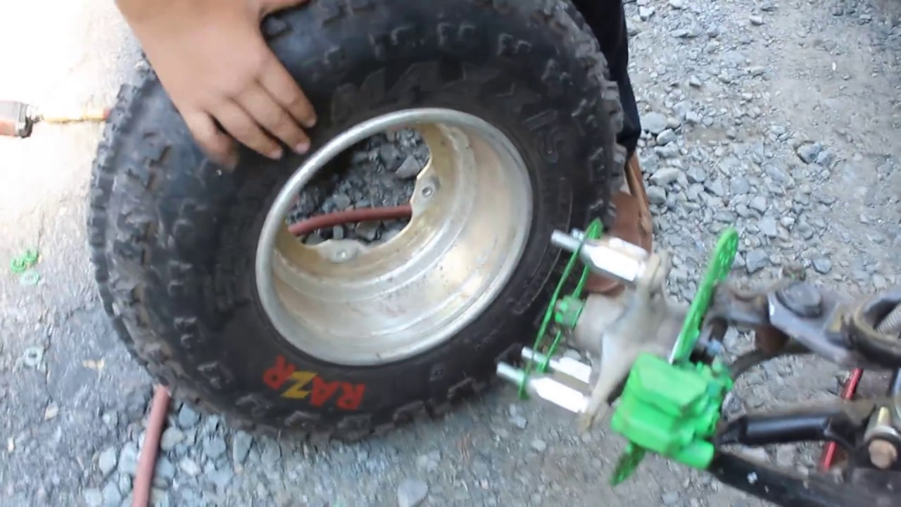 How To Make Quad Tires Wider Easy Free Youtube