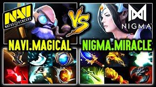 Navi.Magical Tinker vs Nigma.Miracle Carry Mirana - Crazy Game Between M-Gods Dota 2