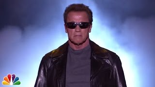 Repeat youtube video The Terminator Sends The Tonight Show to Commercial