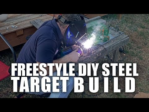 "DIY Air-Rifle Steel target build ""Lincoln welder 110"""