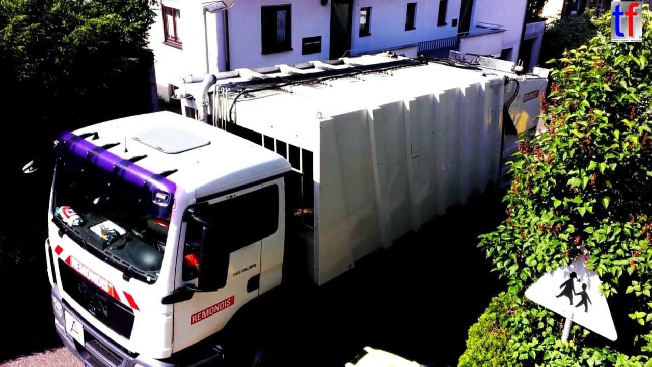 man tgs garbage truck man tgs m llwagen f r gelbe tonne 2013 youtube. Black Bedroom Furniture Sets. Home Design Ideas