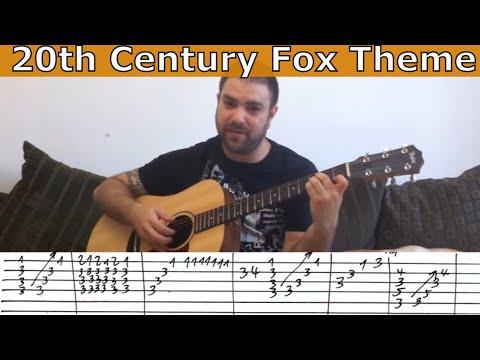 Tutorial: 20th Century Fox Theme Full Arrangement  w TAB Guitar Lesson
