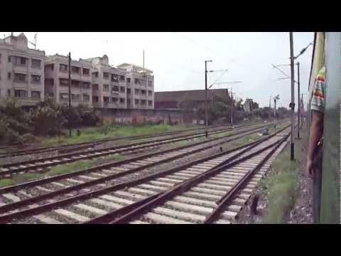 Kolkata local train journey from Ballygunge to Park Circus