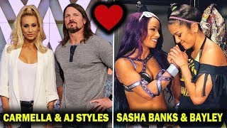 10 WWE Wrestlers So Close Fans Think They Are Dating in Real Life - Carmella, AJ, Sasha, Bayley
