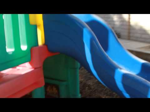 Auctioned Little Tikes Commercial Playground - 3 Slides, Playhouse, Steering Wheel