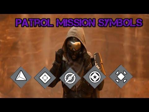 Destiny: Patrol Mission Symbols