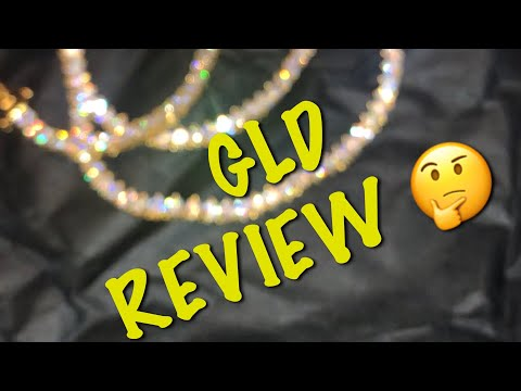 GLD TENNIS NECKLACE UNBOXING REVIEW!! 💦
