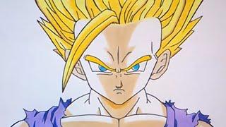 Como dibujar a Gohan SSJ 2 (Saga de Cell) - Hot to draw Gohan SSJ 2 (Dragon Ball Z)