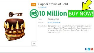 BUYING THE GOLDEN COPPER CROWN! (Roblox READY PLAYER ONE EVENT)