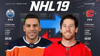 NHL 19 - MILAN LUCIC FOR JAMES NEAL TRADE SIMULATION