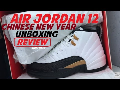 AIR JORDAN 12 CNY CHINESE NEW YEAR RETRO SNEAKER UNBOXING REVIEW